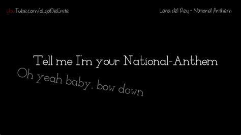 chelsea anthem lyrics lana del rey national anthem lyrics hd youtube