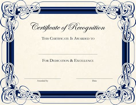 printable certificate template free printable certificate templates for teachers