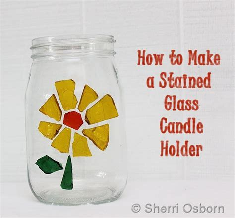 how to make glass how to make a stained glass candle holder craft