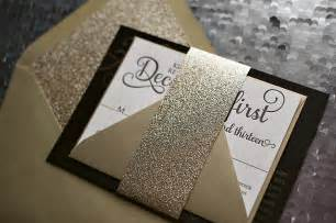 real wedding and black and gold new year s wedding invitation