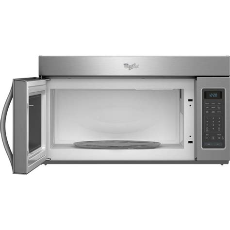 microwave with vent fan whirlpool wmh31017ab 1 7 cu ft over the range microwave