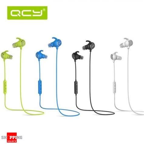 New Product Original Qcy Qy19 Phantom Bluetooth Earphone 4 1 Wireless qcy qy19 phantom wireless bluetooth 4 1 sport anti sweat headphone earphones with mic blue