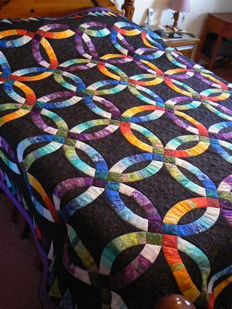 Wedding Ring Quilts King Size by 1000 Ideas About Wedding Ring Quilt On Quilts