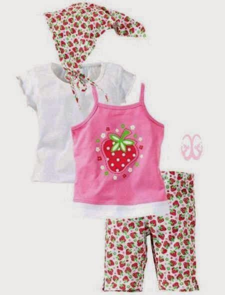 Setelan Bayi New Born Strawberry Pink dress anak white setelan anak pink strawberry 4in1