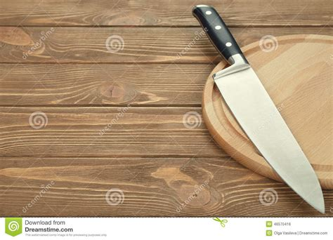 kitchen cutting knives kitchen knives stock kitchen knife and cutting board stock photo image 46570416