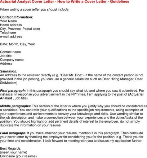 click to view a sle actuarial cover letter