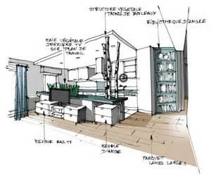 croquis architecture int 233 rieure cuisine ouverte
