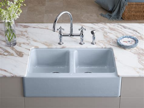undermount kitchen sink with faucet holes standard plumbing supply product kohler k 6534 4u 0
