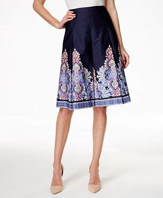 charter club border print a line skirt only at macy s