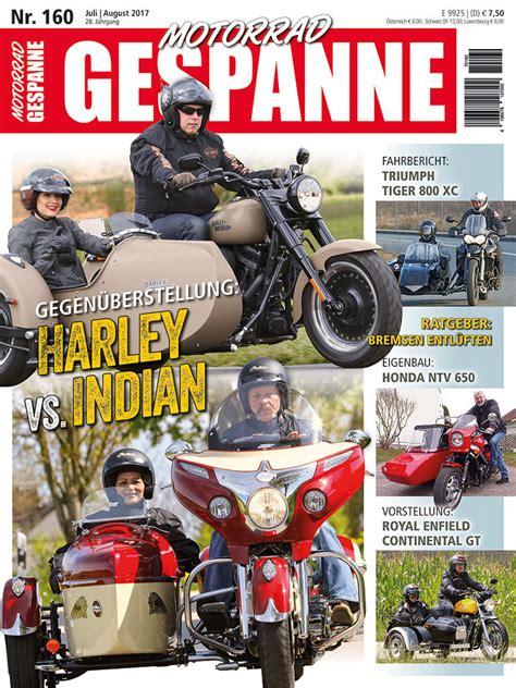 Motorrad Gespanne Katalog 2017 by Motorrad Gespanne 160 Juli August 2017 Motorrad Gespanne