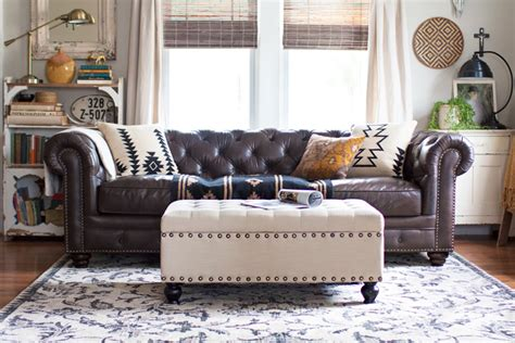 saddler leather sofa living room redo with a new leather sofa
