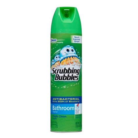 scrubbing bubbles bathtub cleaner sc johnson scrubbing bubbles 22 oz aerosol fresh clean pack 12 walmart com