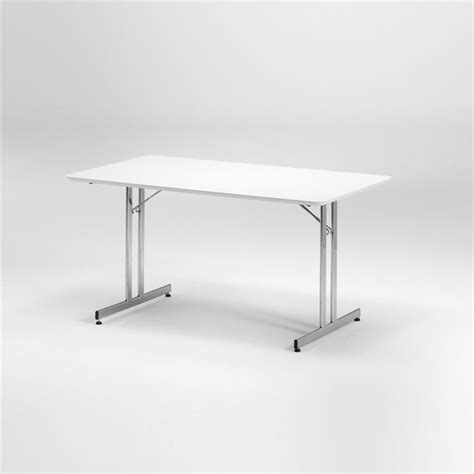white fold table