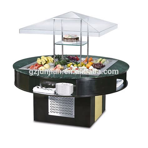 commercial used bar buffet table for sale for restaurant