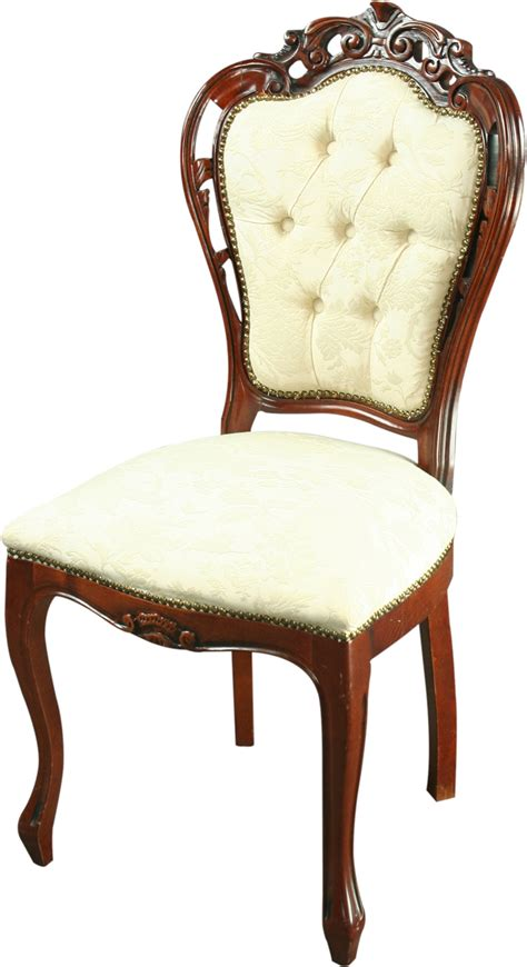 large reproduction italian rococo dining chair ivory