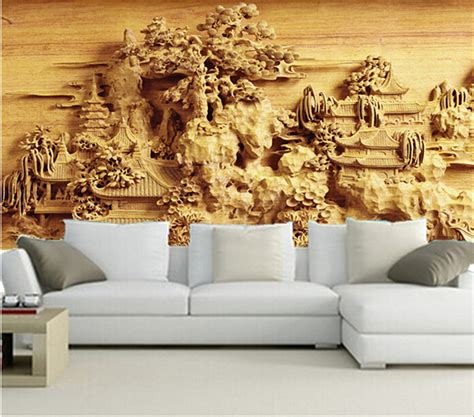chinese living room wall design and famous ancient painting the latest 3d wallpaper 3d chinese ancient garden