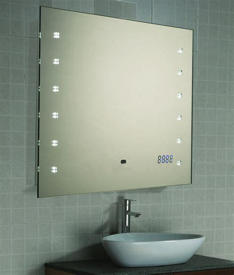 spiegelle led led spiegel badspiegel wandspiegel uhr sensor 45x60 oder