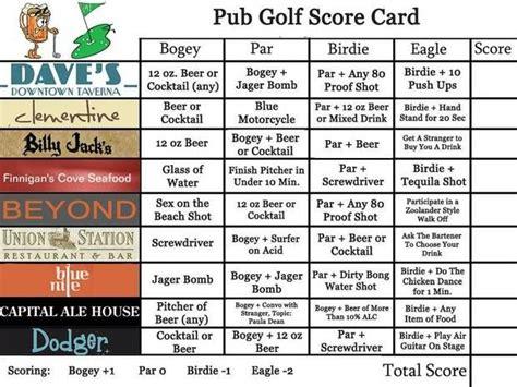 bar golf score cards template peste 1000 de idei despre pub golf pe petreceri