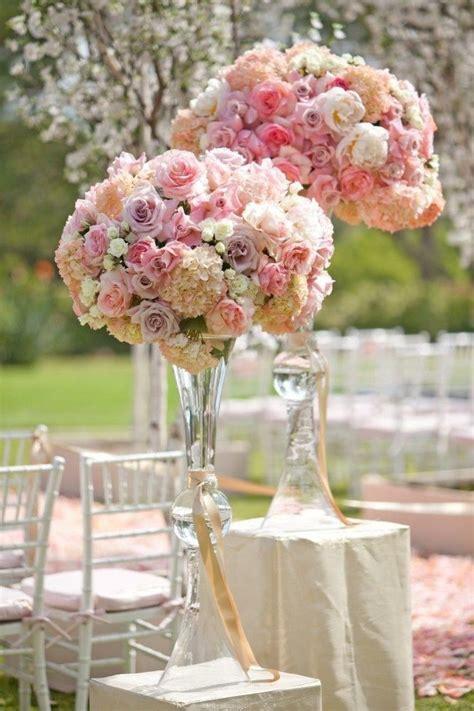 clear trumpet glass vase bridal shower wedding vase