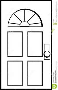 Door black and white clipart clipart kid