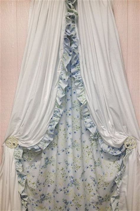 shabby chic curtains blue floral drapes window treatments bedroom curtains nursery chic