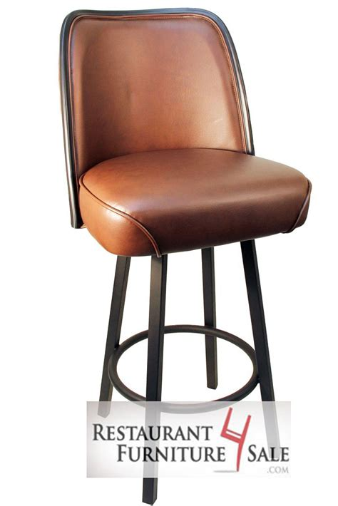 restaurant bar stools for sale gladiator brown 5 inch thick bucket seat restaurant bar