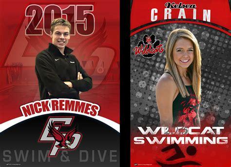 Custom Swim Team Banners Recognize Your Senior Today Senior Sports Banners Templates