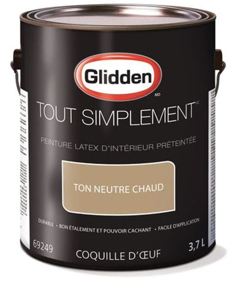 glidden 174 simply stated interior paint pre tinted warm neutral 3 7 l walmart ca
