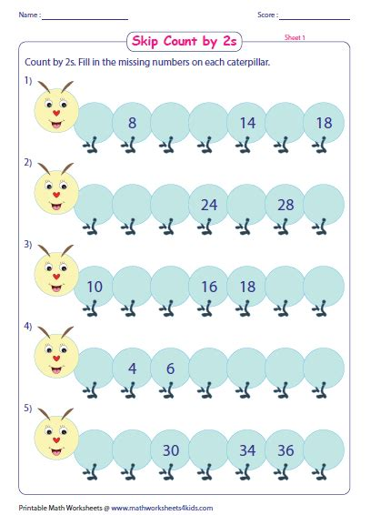 Counting By 2 S Worksheet by Skip Counting By 2s Worksheets