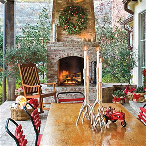 outdoor patio porch christmas decorating pictures