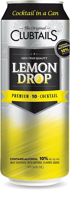 lemon drop martini png clubtails cocktail in a can
