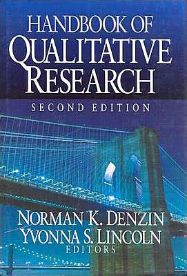 handbook of qualitative research edition 2 by norman k denzin 9780761915126 hardcover