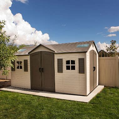 mini storage mobile al lifetime 15 x 8 dual entry outdoor storage shed sam s club