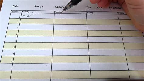 basic stat sheet  volleyball youtube