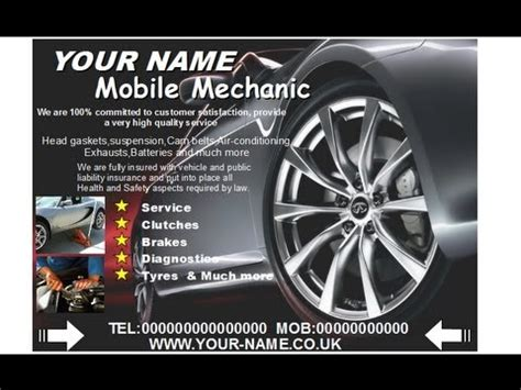 quot mobile mechanic leaflets quot quot mobile mechanic flyer quot youtube