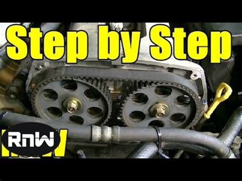 Kia Timing Belt Replacement Kia Spectra Timing Belt Replacement 1 8l Dohc Engine Part 1