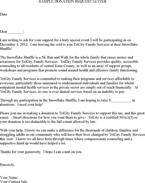 Donation Help Letter The Sle Donation Request Letter Can Help You Make A Professional And Document