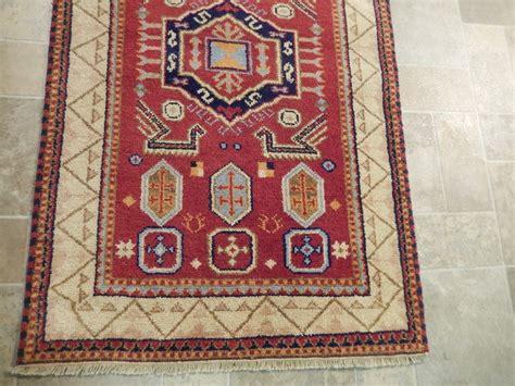 Burgundy 3x5 Wool Rug Hand Woven Kazak Rug Genuine Genuine Rugs