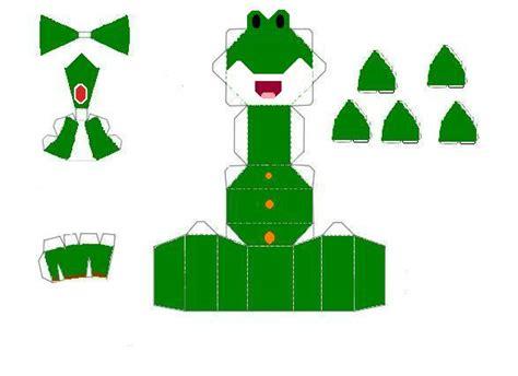 Yoshi Papercraft - chibi yoshi papercraft by scaly green on deviantart
