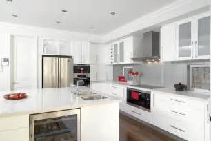 glossy white kitchen design trend digsdigs - white kitchen cabinets cabinets com