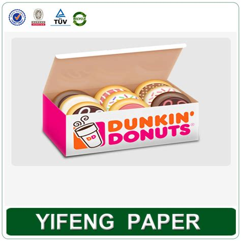 desain kemasan donat foldable recycled paper cardboard box for donuts packaging
