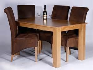 utah oak dining set 1400mm ext to 1850mm 4 bizon caspian