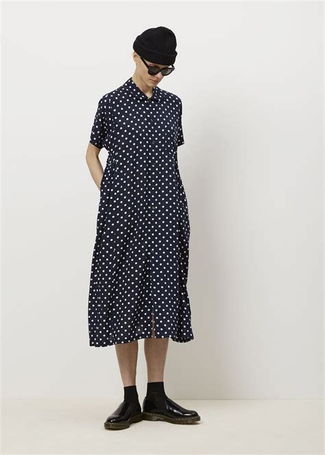 dot pattern clothes comme des garcons comme printed dot pattern dress navy