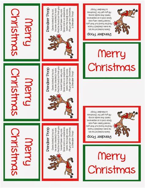 printable reindeer poop tags reindeer poop printables
