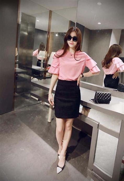 Blouse Import Murah A30717 Pink blouse wanita warna pink modern model terbaru jual