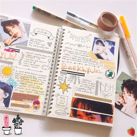 exo journal singforbyun on instagram a messy spread i did myself gt
