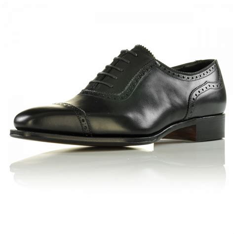 handmade oxford brogue style shoes dress shoes black