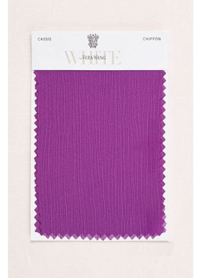 what color is cassis cassis crinkle chiffon fabric swatch david s bridal