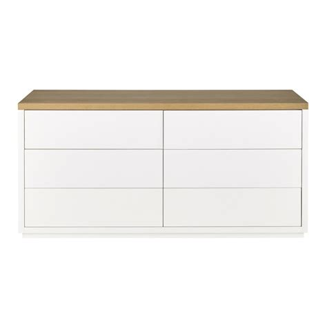 White And Oak Chest Of Drawers by Solid Oak Chest Of Drawers In White W 160cm Austral