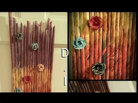 New Paper Craft Ideas - diy newspaper wall hanging paper craft for home decor